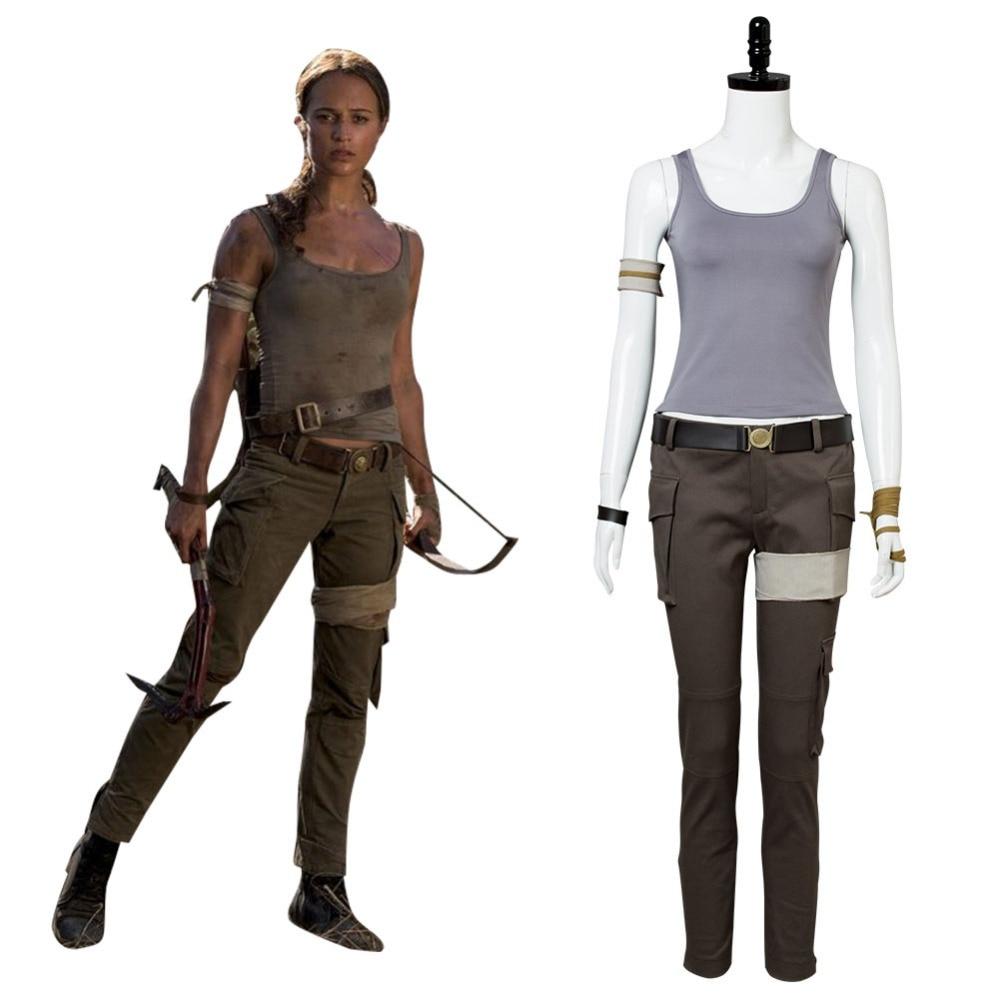 Movie Tomb Raider 2018 Lara Croft Cosplay Costume Halloween