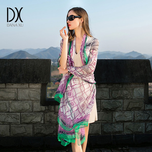 Image 4 - 2017 New Print Chiffon Scarves Women Muslim Hijab Spring And Autumn Georgette Womens Silk Scarf From India Bandana Face Shield