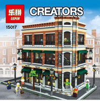 2016 New LEPIN 15017 4616Pcs Starbucks Bookstore Cafe Model Building Kits Blocks Bricks Compatible Funny Toys