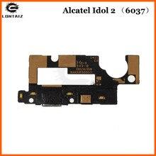 For Alcatel One Touch Idol 2 OT6037 6037 6037Y flex USB Charger Port Connector Board Mic Charging Flex Cable alcatel ot 6037y idol 2 black slate