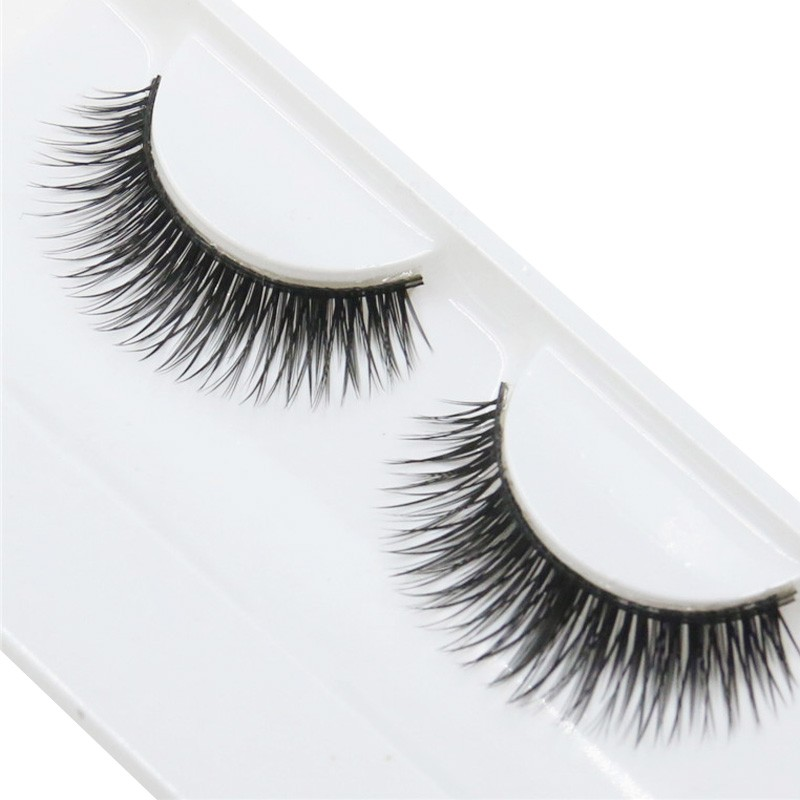 цена 1 Pair Woman False Eyelashes Cross Thick False Eye Lashes Extension Makeup Super Natural Long Fake Eyelashes Extension Tools