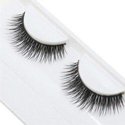 1 Pair Woman False Eyelashes Cross Thick False Eye Lashes Extension Makeup Super Natural Long Fake Eyelashes Extension Tools