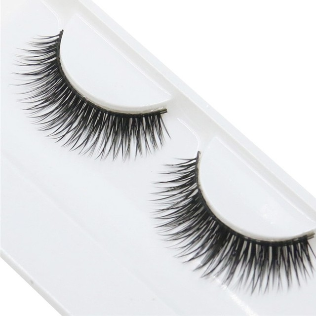 1 par de pestañas postizas cruzadas gruesas pestañas postizas extensión maquillaje Super Natural largas pestañas postizas herramientas de extensión
