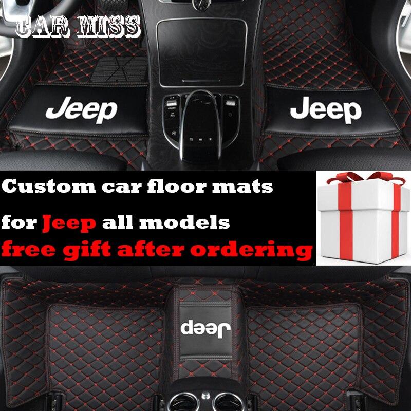 Logo personnalisé tapis de sol de voiture pour jeep renegade Grand Cherokee Commander Cherokee Wrangler patriot boussole tous les modèles tapis de voiture