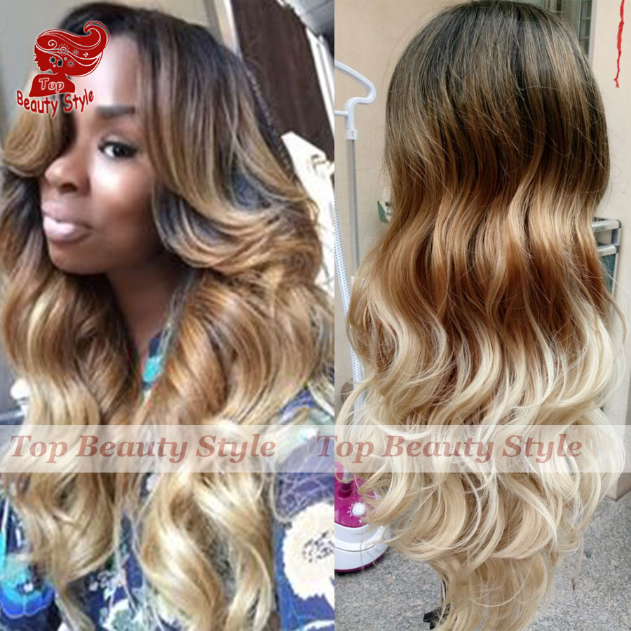 Blonde And Brown Lace Front Wigs 69