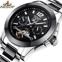 AESOP Mode Herrenuhr Männer Keramik Saphirglas Automatische Mechanische Armbanduhr Männliche Uhr Relogio Masculino Marke 46