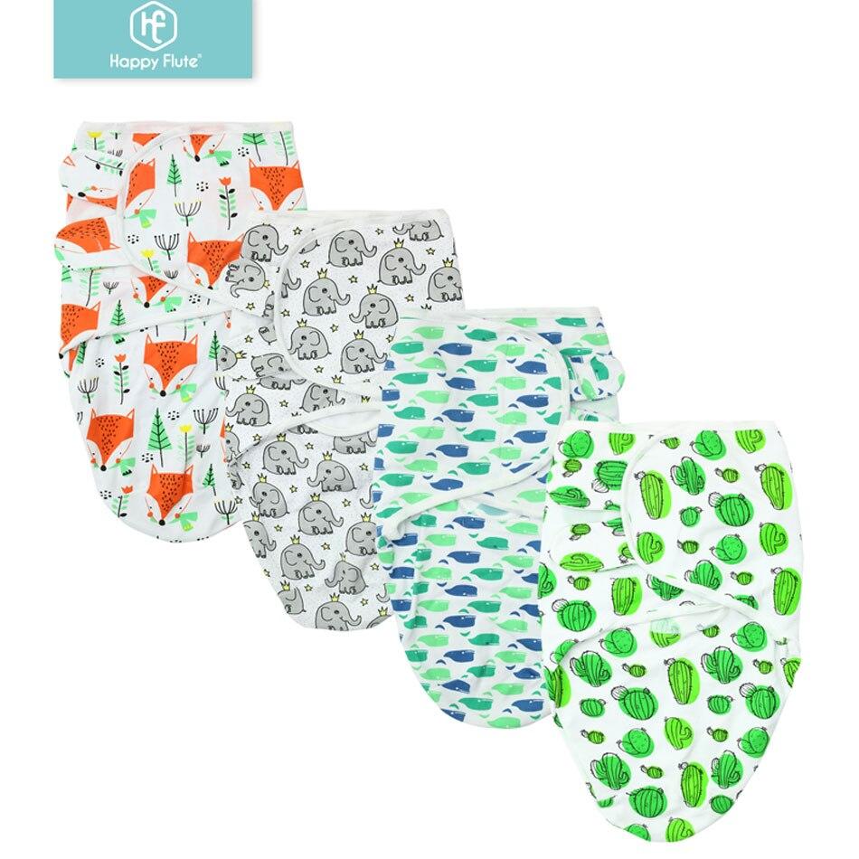 Happy Flute Newborn Baby Swaddle Wrap 100% Cotton Blanket & Swaddling Wrap Blanket Sleeping Bag