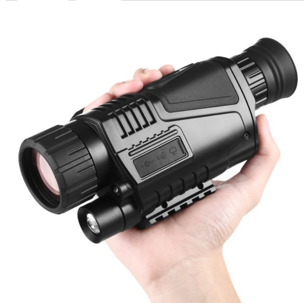 лучшая цена 2018 tactical 5x40 digital infrared night vision sight no thermal with video camera Night vision monocular weapon free shipping
