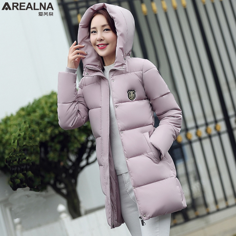 Abrigos mujer invierno 2017 winter jacket women parka Casual Warm Long Sleeve Ladies Basic Coat cotton womens winter jackets qazxsw woman basic coat woman winter jacket for women woolen poncho jacket single button loose cotton padded abrigos mujer hb118