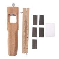 Новый деревянный Регулируемый резак в полоску ремесло инструмент кожа ручные режущие инструменты + 5 лезвий