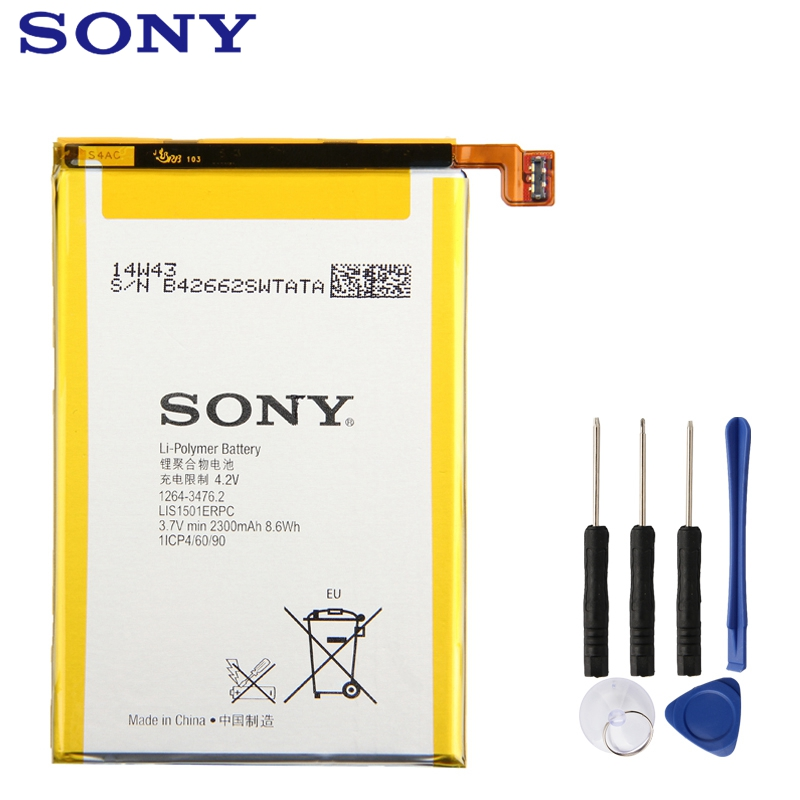 Substituição original bateria sony lis1501erpc para l35h xperia zl odin xperia zq c650x telefone autêntico bateria 2330 mah