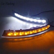รถกระพริบ1ชุดสำหรับVOLVO XC90 2007   2013 LED DRLไฟวิ่งกลางวันDaylightกันน้ำหมอกโคมไฟรถ จัดแต่งทรงผมTurn Light