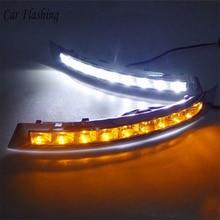 Car Flashing 1Set For VOLVO XC90 2007   2013 LED DRL Daytime Running Lights Daylight Waterproof fog lamp car Styling turn light
