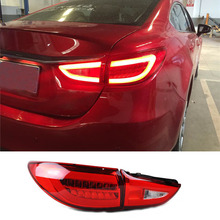 LED Light Guide Design Taillight Rear Trunk Lamp For Mazda 6 2013 2014 2015 Car Styling Exterior Accessories
