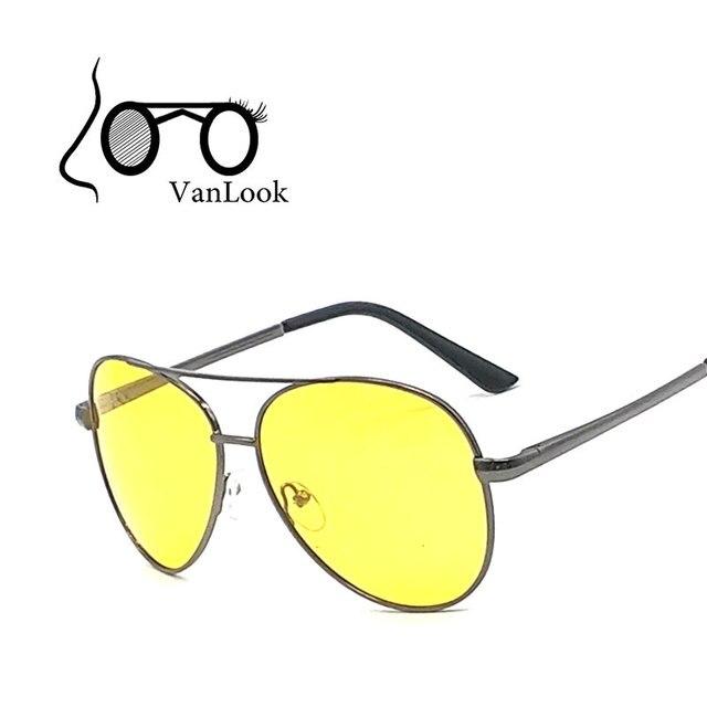 20f7f8d5e0b63 Óculos polarizados Homens Óculos de Sol Óculos de Lente Amarela Para  Dirigir À Noite No Escuro