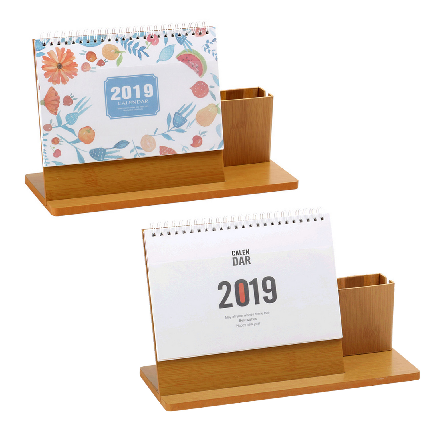 Cute Small Desktop Table Calendar Students Stationery Promotion Gifts New Arrival 2019 Mini Pocket Size Paper Calendar