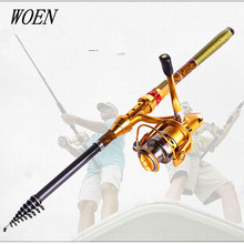 2017 New Carbon Rocky Sea Fishing rod 3 m ultralight superhard throwing pole fishing gear + AF4000 Spinning Wheel  Rod Combo