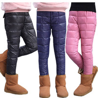 Girls trousers 2018 winter trousers leggings for girls children's pants girls thicken warm cotton trousers kids winter pants