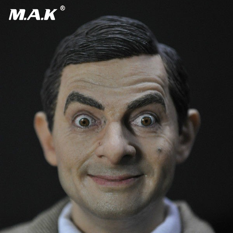 1/6 Head Sculpt 13-81Male Figure Head Mr Bean Lifelike Headplay 12 Action Figure Collection Toys Gift цена