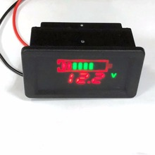 Waterproof 12V Lead-Acid Battery Status Capacity LED Display Indicator Voltmeter Digital Meters Tester Tools
