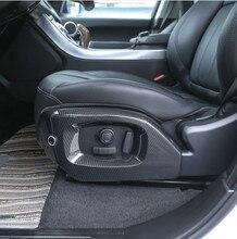 Carbon Fiber Style Car Seat Side Cover Trim For Landrover Range Rover Vogue 2013-2017 For Range Rover Sport 14-17 Car Parts 2pcs lr022895 oil cooler 4 4l v8 diesel for range rover 02 09 10 12 13 range rover sport 14 car oil cooler aftermarket engine parts