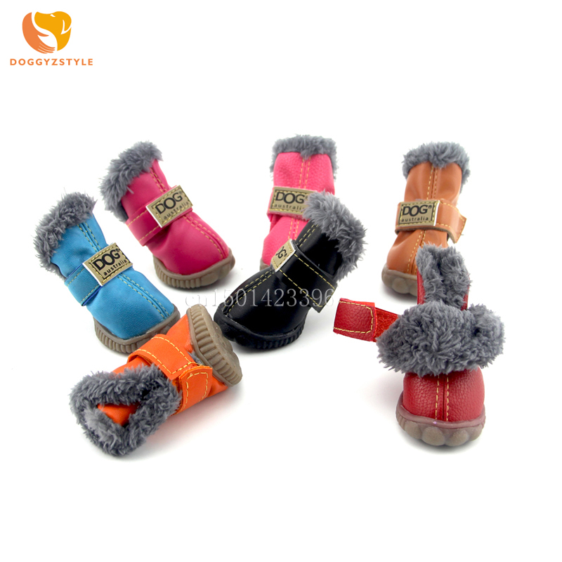 Waterproof Pet Shoes Winter Dog Cat Snow Boots Warm Puppy
