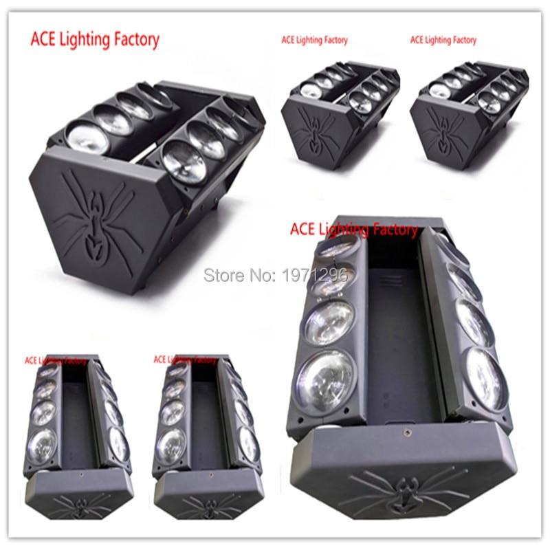 6pcs/lot free&fast shipping hot New Moving Head Led Spider Light 8x10W RGBW Led Party Light DJ Lighting Beam Moving Head Light