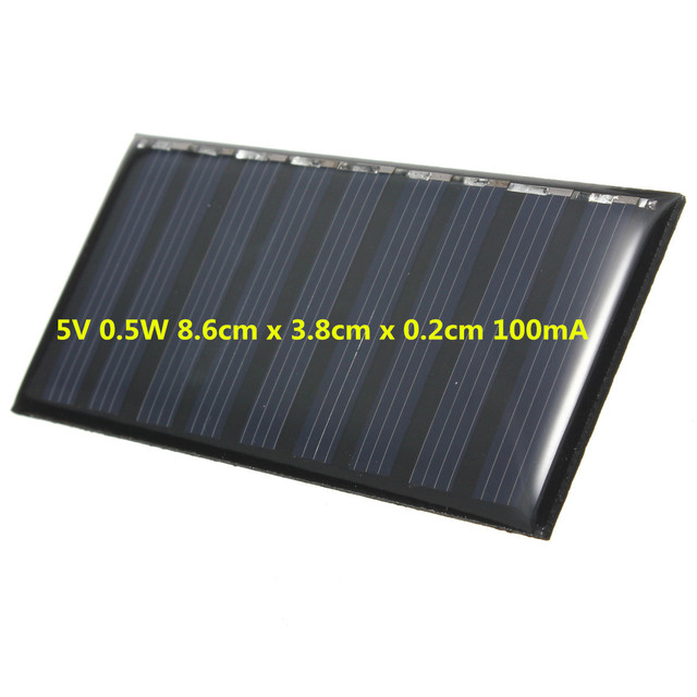 Solar Panel DIY 5V 0.5W 100mAh Mini Battery Powered Models Polycrystalline Silicon Epoxy for Charging Cellphone DC Wholesale 2