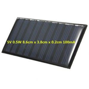 Image 2 - لوحة طاقة شمسية لتقوم بها بنفسك 5 فولت 0.5 واط 100 مللي أمبير بطارية صغيرة تعمل بالطاقة نماذج الكريستالات السيليكون الايبوكسي لشحن الهاتف المحمول تيار مستمر بالجملة