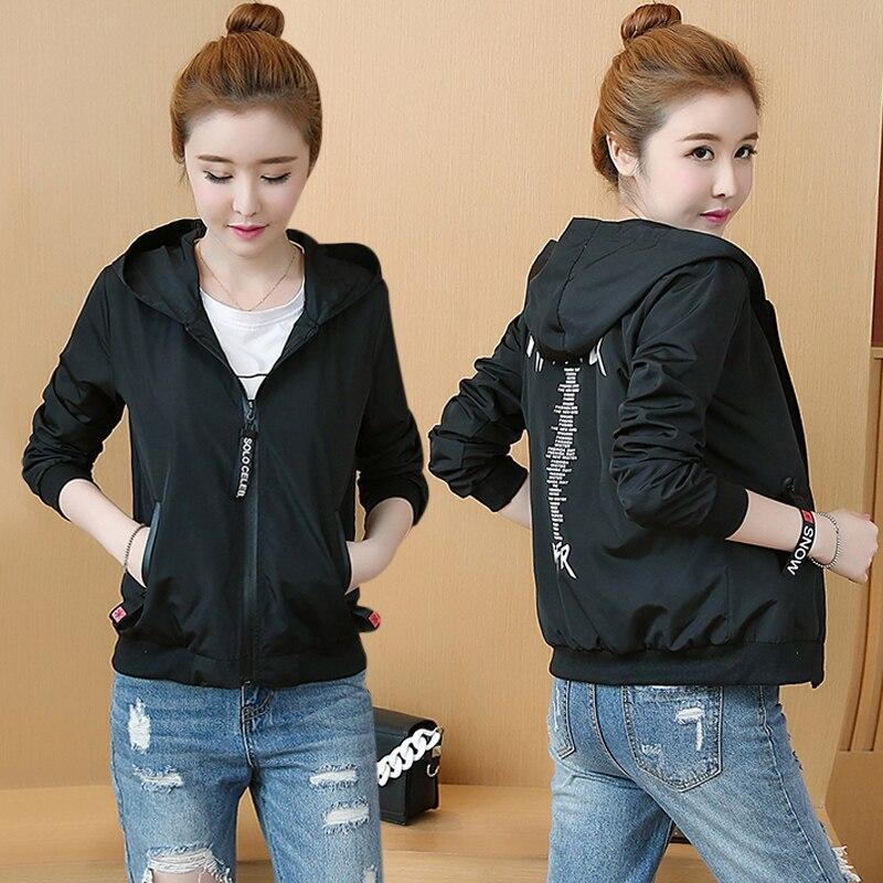 Jackets Women 2019 New Women's Basic Jacket Fashion Windbreaker High Quality Outwear Female Baseball Women Coat NS4210 31