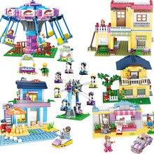 Jie Star Girl Dream Town Amusement Park Ferris Wheel Model Building Blocks kit Bricks Educational Toys for Children Gift