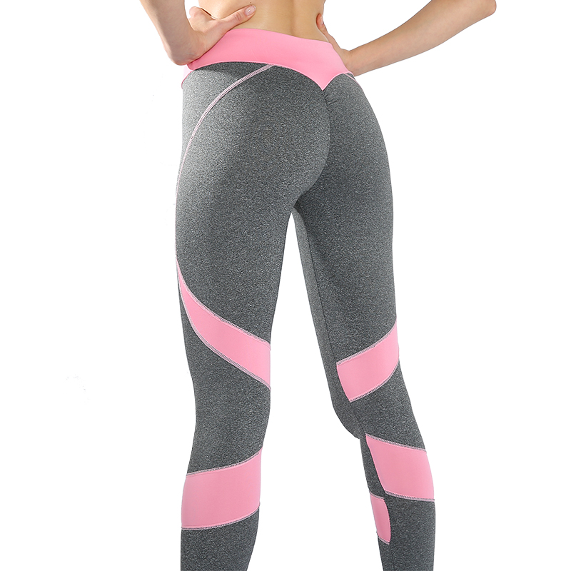 Fashion Heart Fitness Leggings Women Workout Slim Leggings Patchwork Polyester Jeggings Sportwear Trousers Women