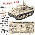 1018 stücke Armee WW2 Deutschen König Tiger 131 Tank Soldat Waffe Bausteine Ziegel Spielzeug für Jungen Kompatibel Military tank blöcke-in Sperren aus Spielzeug und Hobbys bei