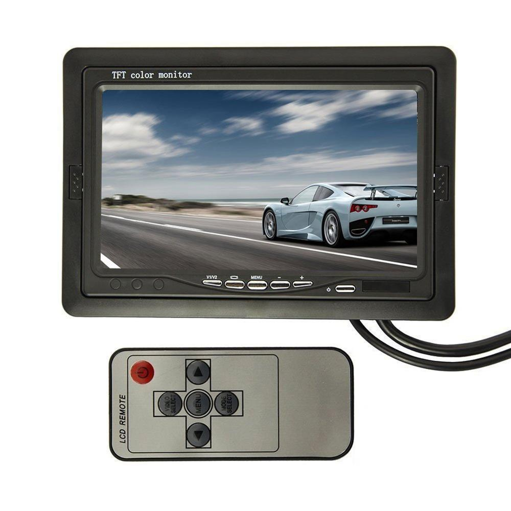 7 zoll Auto Backup Parkplatz Spiegel TFT-LCD Auto Monitor + Wireless Transmitter/Receiver Auto Rückansicht Kamera Auto Umkehr kamera