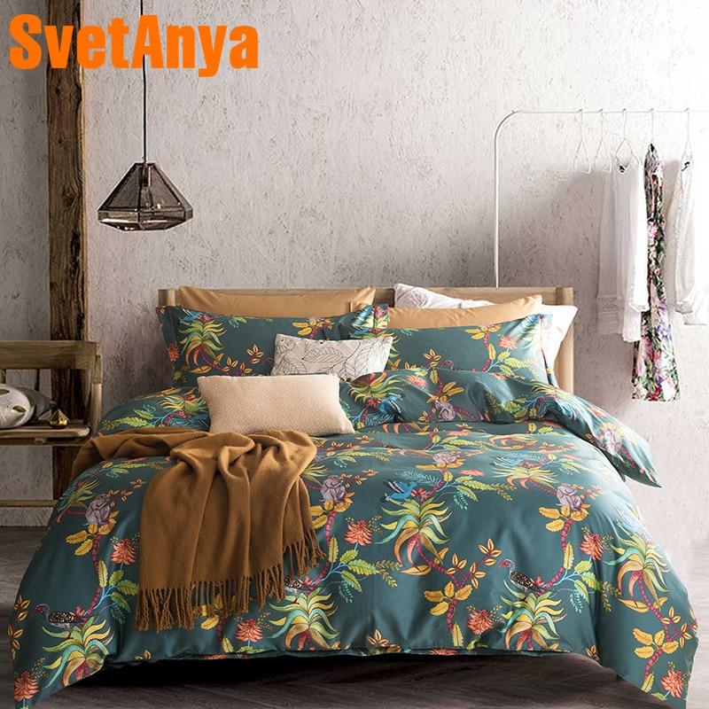 Svetanya Bedding-Sets Pillowcases Duvet-Cover-Set Bedsheet Queen King Egyptian Cotton
