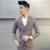(Jaqueta + Calça + Colete) Cor sólida Slim Fit Terno Homem de Negócios Ternos Blazer Dos Homens do Café Roupas de Marca Ternos de Casamento DHL Frete Grátis
