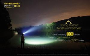 Image 3 - Original Nitecore HC33 Headlight CREE XHP35 LED 1800 lumens High Performance Headlamp+Nitecore 3500mah 18650 battery