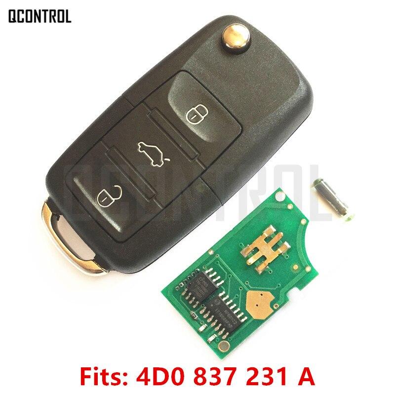 QCONTROL Auto Funkschlüssel für AUDI A3 A4 A6 A8 RS4 TT Allroad Quttro RS4 1994 1995 1996 1997 1998 1999 2000 2001 2002 2003 2004