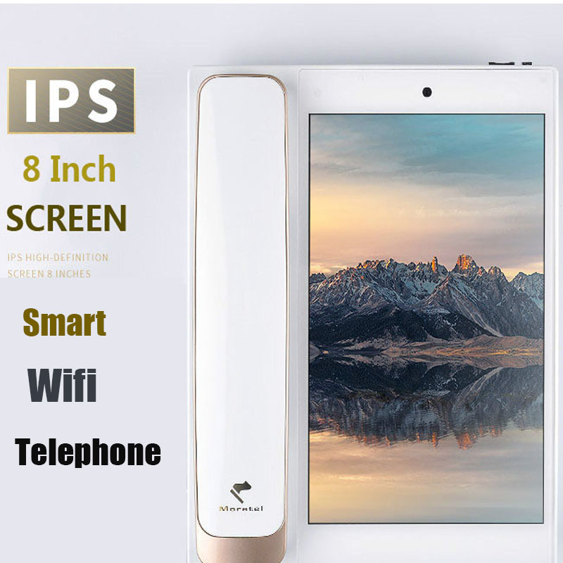 Andrews Smart Network Video Fixed Telephone With Call ID SMS WIFI Recording Address Book Blacklist For Home Office Bussiness ...