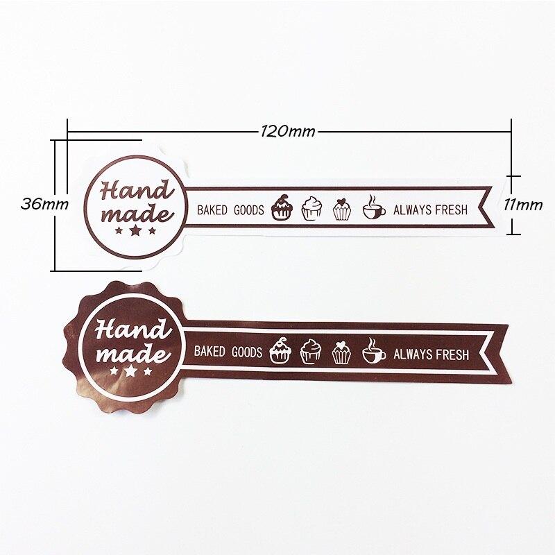 Купить с кэшбэком 60pcs/lot 'Handmade BAKED GOODS' Vintage Sealing Sticker DIY Gifts Posted Bake Package Decoration Label Stickers Scrapbooking