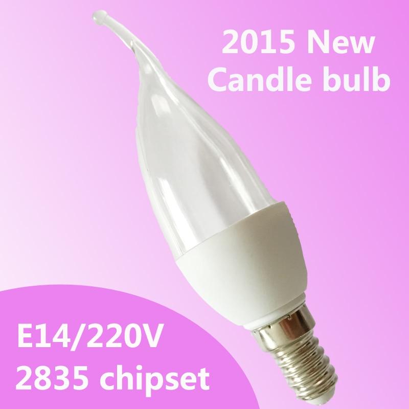 Wholesale Led Lamp E14 2835smd 3w Led Candle Light Bulb Led Bulb Warm White Cold White 220v Free