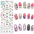 Rocooart DS237 DIY Beauty Water Transfer Nails Art Sticker Flying Colorful Butterfly harajuku Nail Wraps Sticker Taty stickers