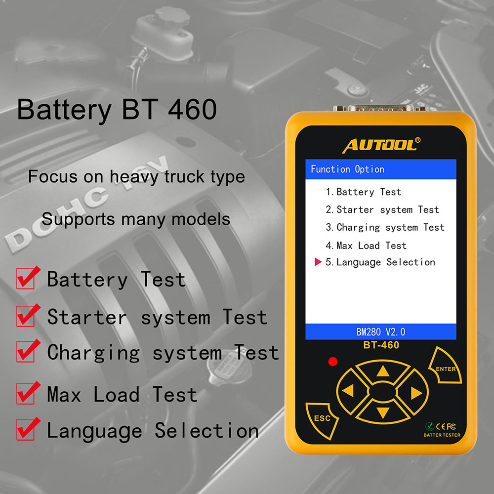 Worldwide delivery car battery tester 12v digital analyzer in NaBaRa