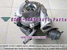 GT1849V 727477 727477-5006S 727477-5007S 14411-AW40A Turbo Turbocharger For NISSAN X-Trail DI Almera Primera DCI YD22ED YD1 2.2L