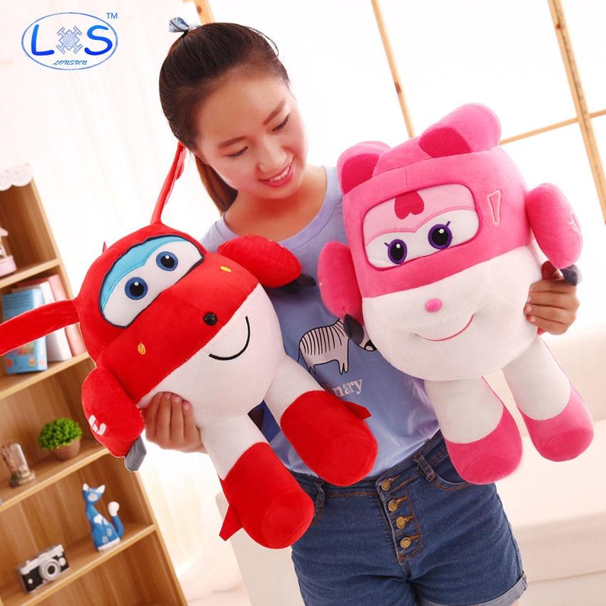 (LONSUN)Korean Anime Super Wings Model Dizzy Jett Plush Toys Stuffed & Plush Cotton Plush Toys Model Decoration Children's Toys цена