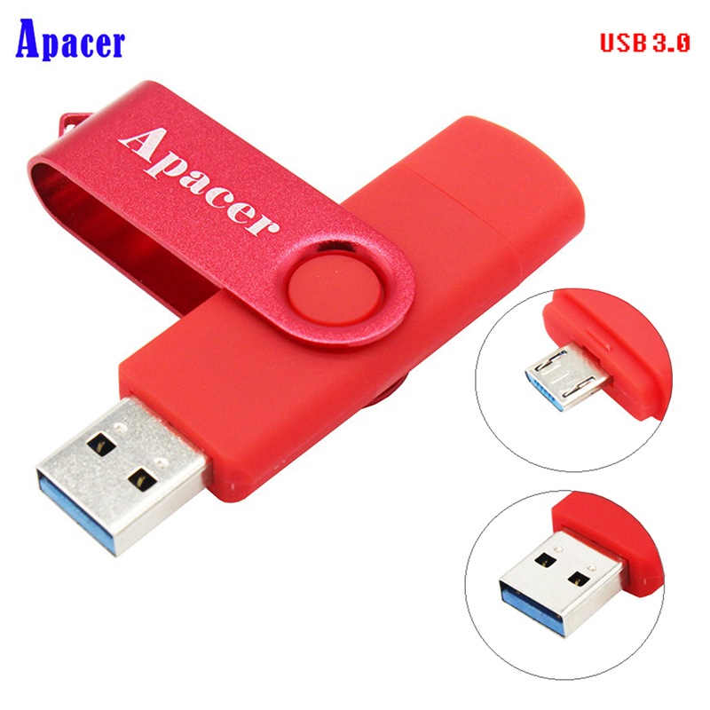 Apacer 10 Colors usb3.0 OTG Usb Flash Drive 4GB 8GB Pen Drive 16GB 32GB Usb 3.0 все цены