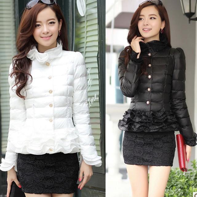 Women's winter jacket women down coat thin Slim lace short down jacket female women's winter jackets girl jacket spring autumn