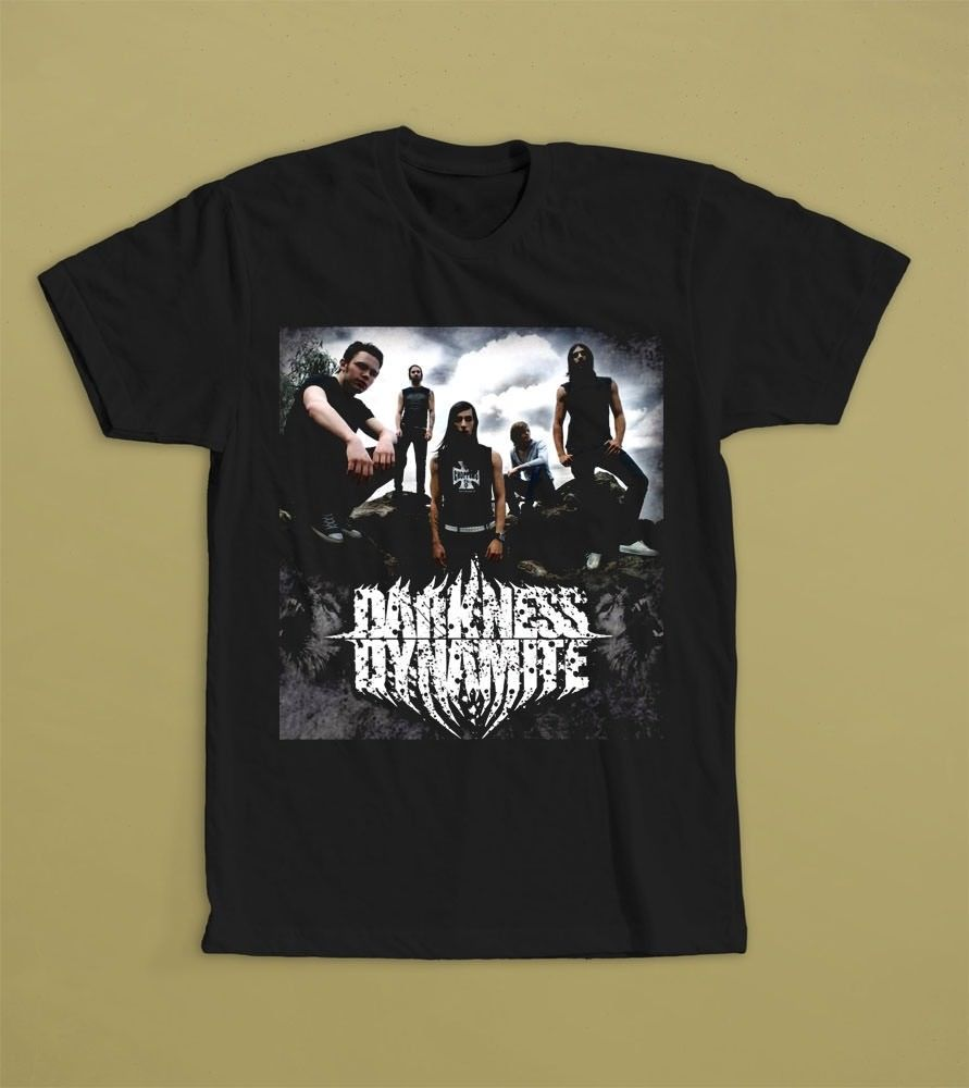 Darkness Dynamite French metalcore band Blockheads Black T-shirts image