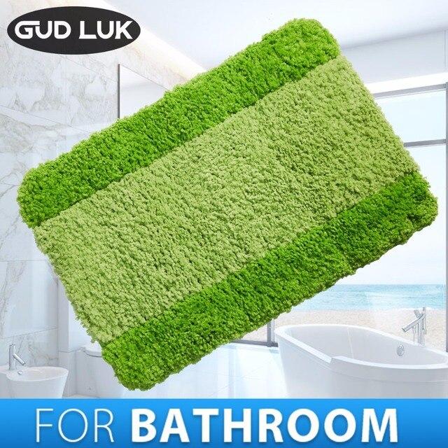 100%Polyester Anti-slid Bathroom Mats Capacho Stripe Bath Mat Solid bathroom Floor mats Carpet Rug tapis de bain 40*60cm CXH-002