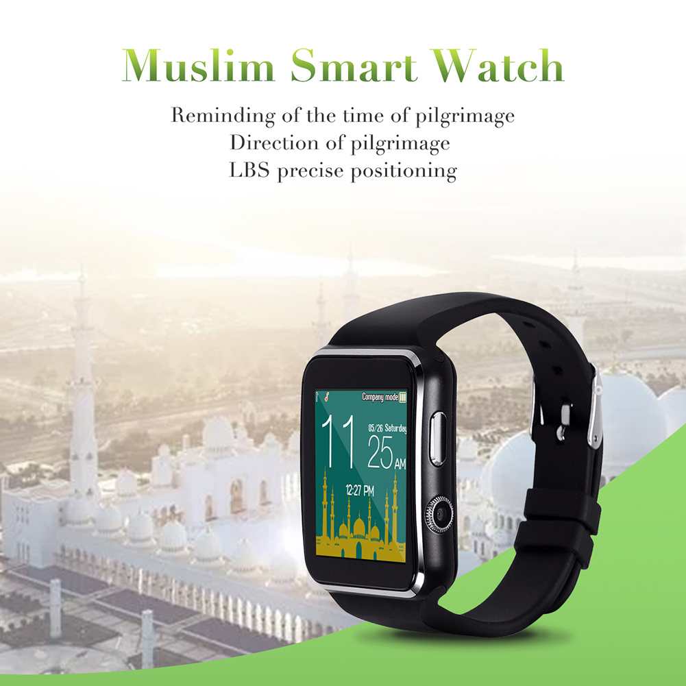 Muslim Smart Pilgrimage Multi-functional Watch Smart Watch With Direction Time Reminder Location Mekka Kaaba Smart Wristband